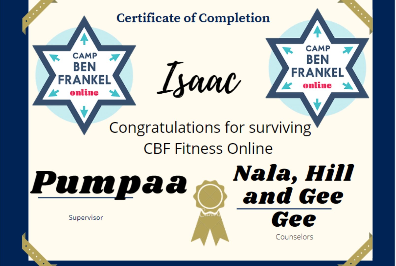 Isaac - Certificate of Completion