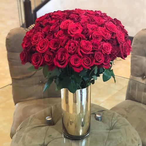Classy Long Stem Red Roses