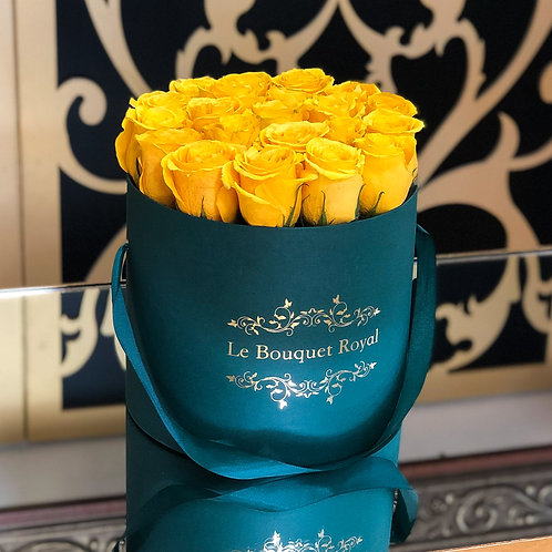 Belle Yellow Emerald Rose Box