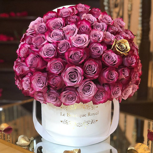 Signature Deep Purple with Gold Rose