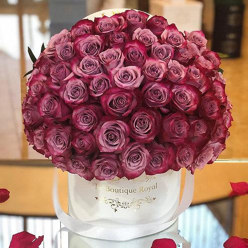 Signature Deep Purple Rose Box