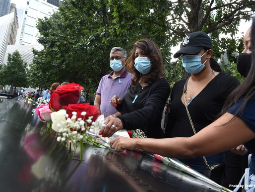 PHOTOS: Thousands honor victims of 9/11 terrorist attacks in New York City