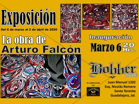 """Del 6 de marzo al 2 de abril """"La Obra de Arturo Falcón"""" estará en Bobber Black"""