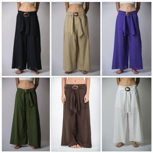 Wide Leg Organic Cotton Yoga Pants