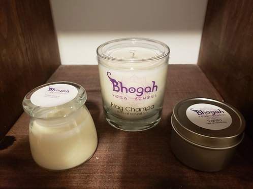 Bhogah Yoga All Natural Candle - large glass jar