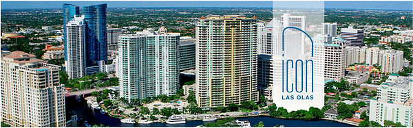 Ft Lauderdale Skyline with Icon Las Olas imagined in the skyline. Located at 500 East Las Olas Boulevard, Fort Lauderdale, Florida, 33301