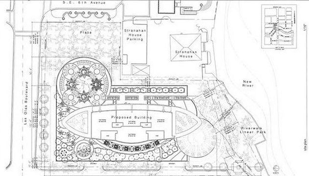 Site Plan for Icon Las Olas 500 East Las Olas Boulevard, Ft Lauderdale FL 33301