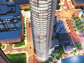 The 455-foot tower, now under construction, was first proposed in 1999