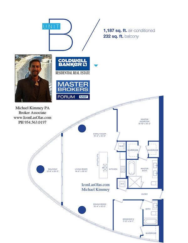Icon Las Olas B Floor Plan, 500 East Las Olas Boulevard Fort Lauderdale, Florida