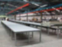 Busbar with spreading table