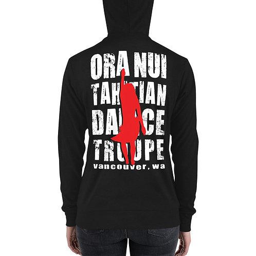 Ora Nui Dancer Unisex Zip Hoodie