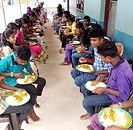 Children having food at Yuva Social Movement Project