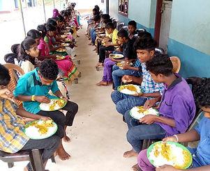 Food time at Yuva Social Movement Project