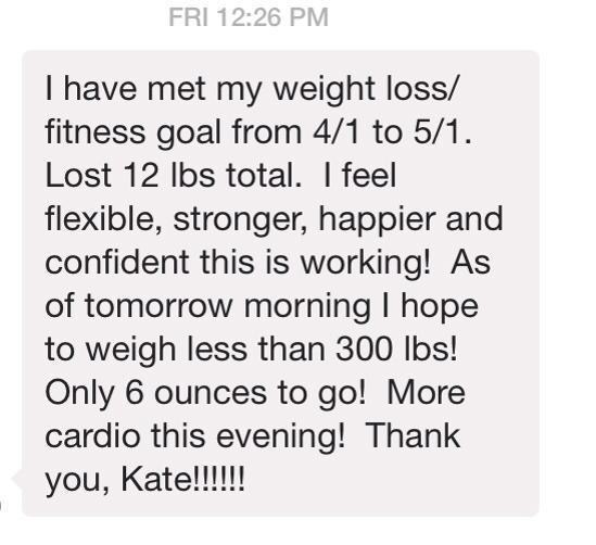 Weight Loss Testimonial
