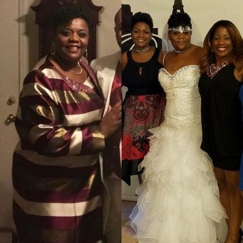 Pam lost 5 dress sizes and 75lbs.