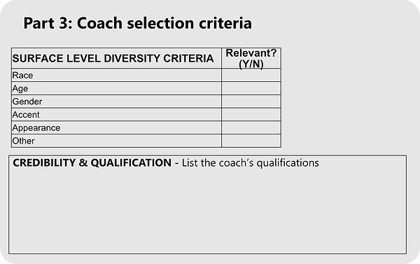 Coach selection criteria toolkit