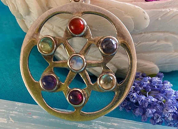Chakra Pendant on Sterling Silver