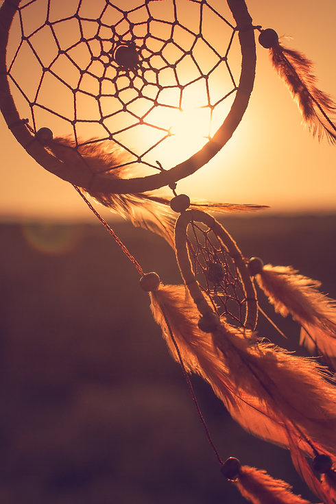 Dreamcatcher, the mountains and sunset.