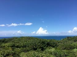沖縄のとある展望台にて