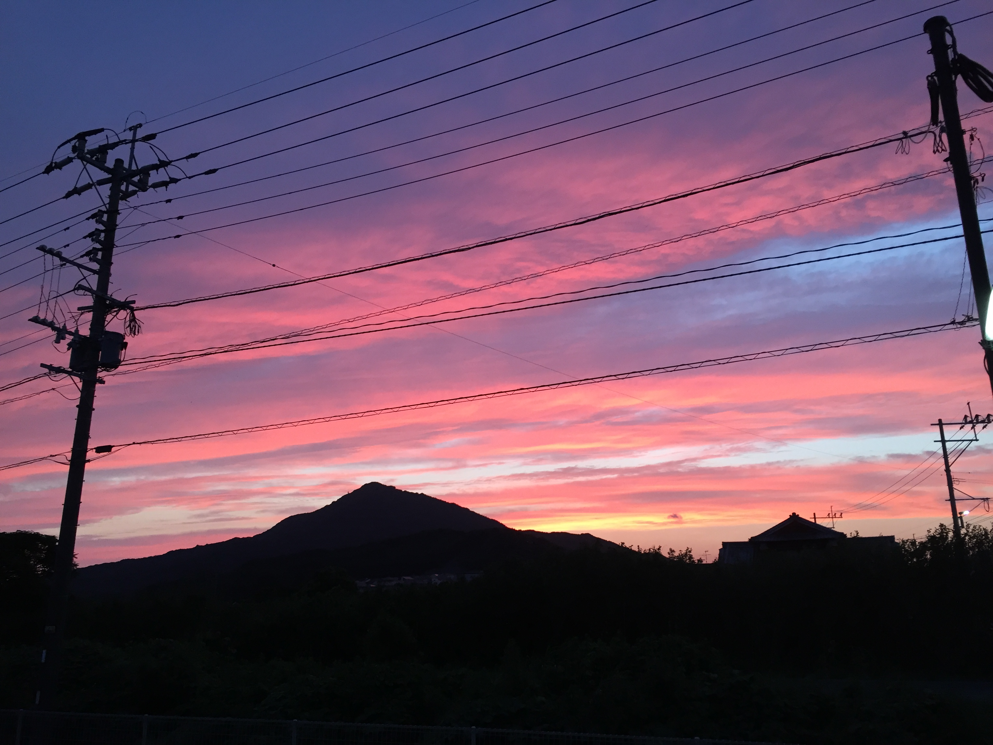 夕暮れの可也山 糸島市