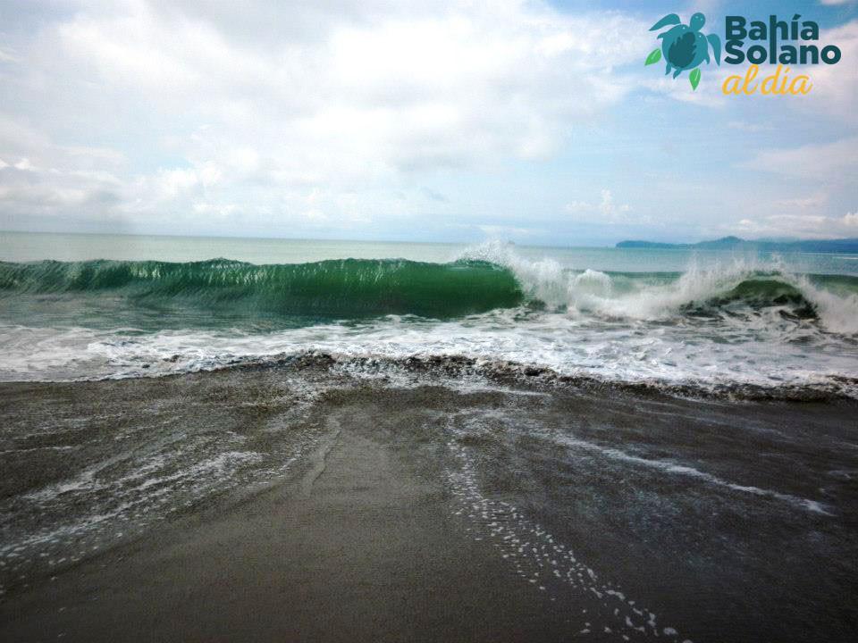 Se espera que varios puntos en Bahía Solano tengan olas de hasta 3,75 metros de alto.