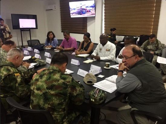 Consejo de seguridad en Quibdó, hoy. Cortesía.