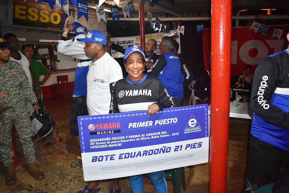 Elizabeth Mena de Nuquí, fue la ganadora del Torneo