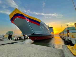 Nueva embarcación de la Armada de Colombia fue bautizada como ARC Bahía Solano