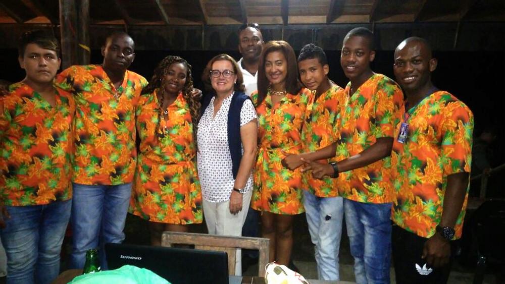 Grupo Son Yubarta con la Embajadora de la UE en Colombia.