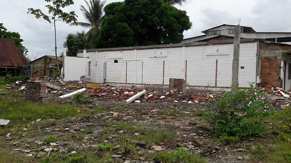 Adicionalmente se derribó la edificación donde funcionaba el Punto Vive Digital