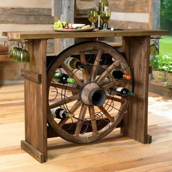 Upcycled Ship Wheel Wine Rack DIY