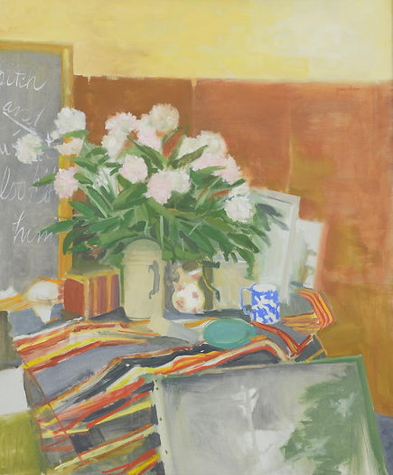 ane Wilson, (20th Century), oil on canvas, Stellas Carnations