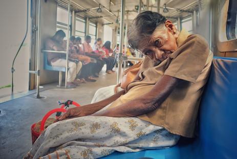 Stranger on the train, Colombo, Sri Lanka, 2018