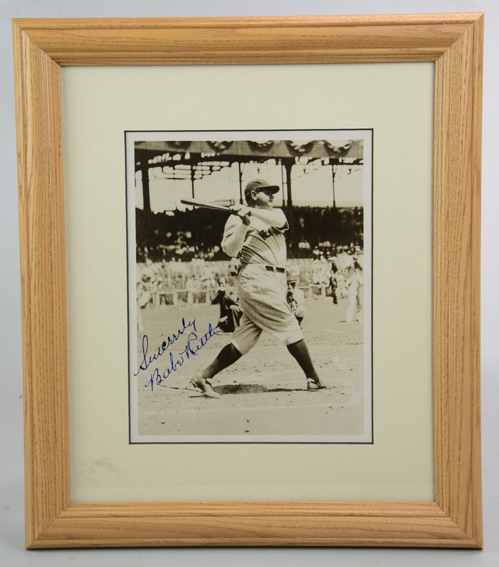 Lot 6525, Period Babe Ruth Autographed Photo