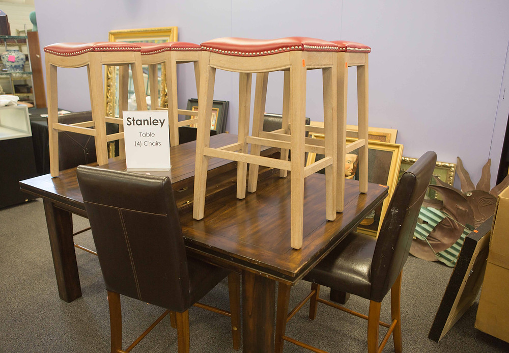 Stanley Bar Height Table & Stools | Bunch Auctions