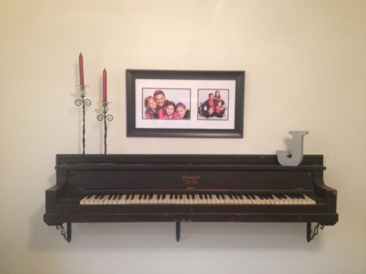 DIY Repurposed Piano Shelf | Upcycling