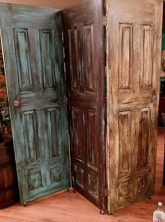Upcycling salvaged doors | Room dividers