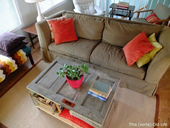Upcycling salvaged doors | coffee table