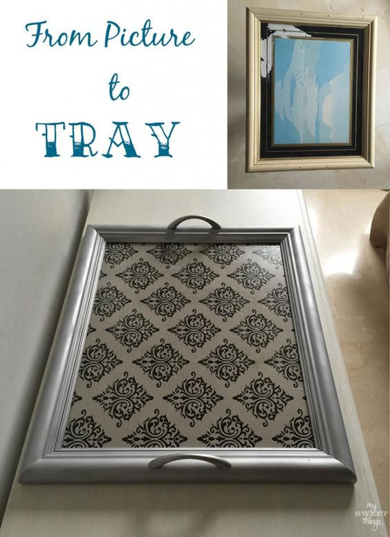 Repurposed Picture Frame Serving Tray