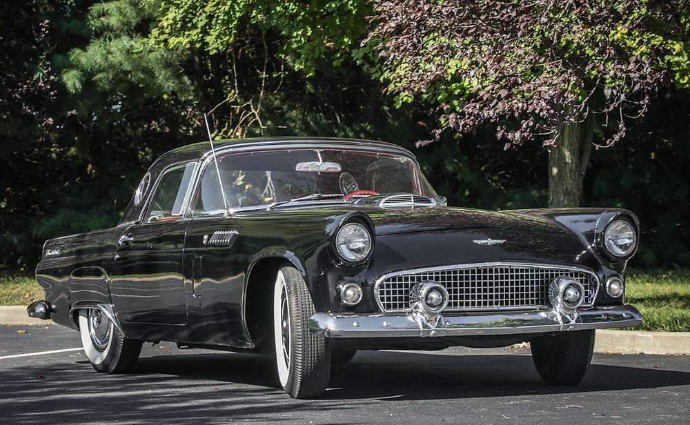Black 1956 Thunderbird Classic Car