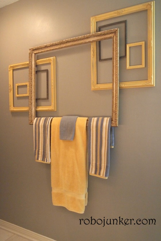 Picture Frame Towel Rack