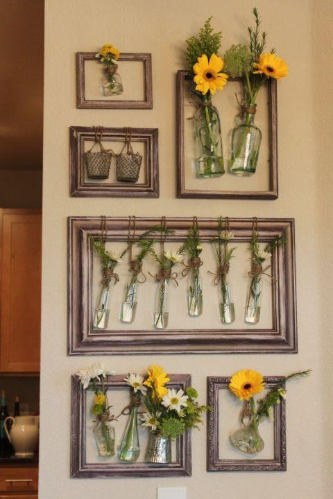 Picture Frame Floral Arrangements