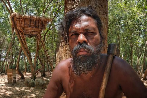 Vedda villager, Dambulla, Sri Lanka, 2018