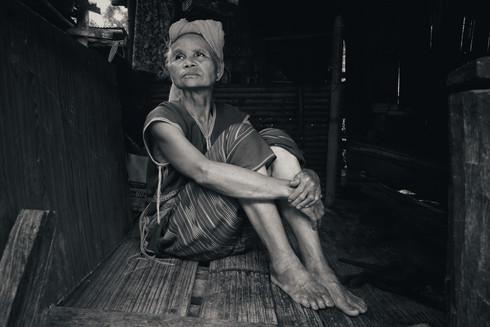 A woman in her home, White Karen Tribe, Doi Inthanon, Thailand, 2018