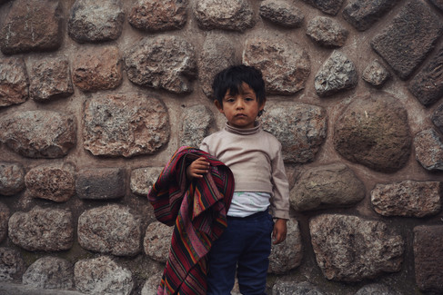 He was all alone watching a parade, Cusco, Peru, 2019