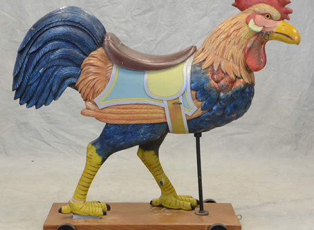 Cock of the Walk: Rare Carousel Rooster to Cross the Auction Block