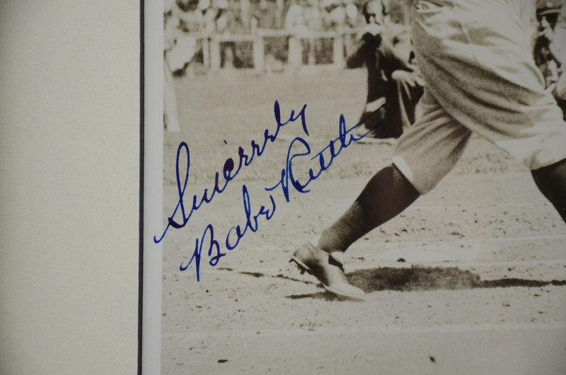 Autographed Babe Ruth Photo Signed 'Sincerely Babe Ruth'