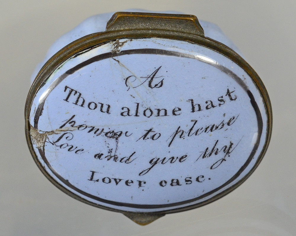 """Lot 12015 reads """"As thou alone hast power to please, love, and give thy lover ease."""""""