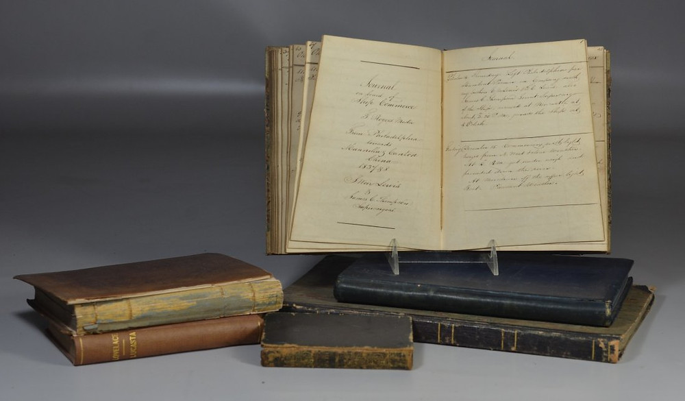 Bunch Auctions Annual Spring Sale Highlight: Silas Weir Lewis supercargo logs from Philadelphia to China