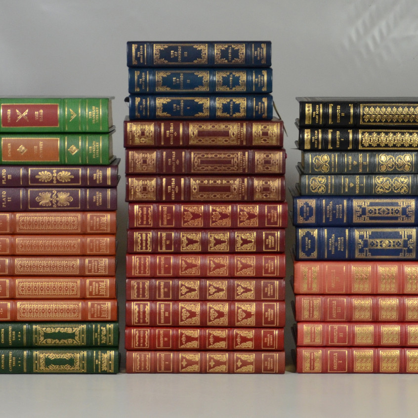 Franklin Library 25th Anniversary Edition, Great Books of the Western World, 95 of 96 volumes, only missing Volume 6, Gibbon